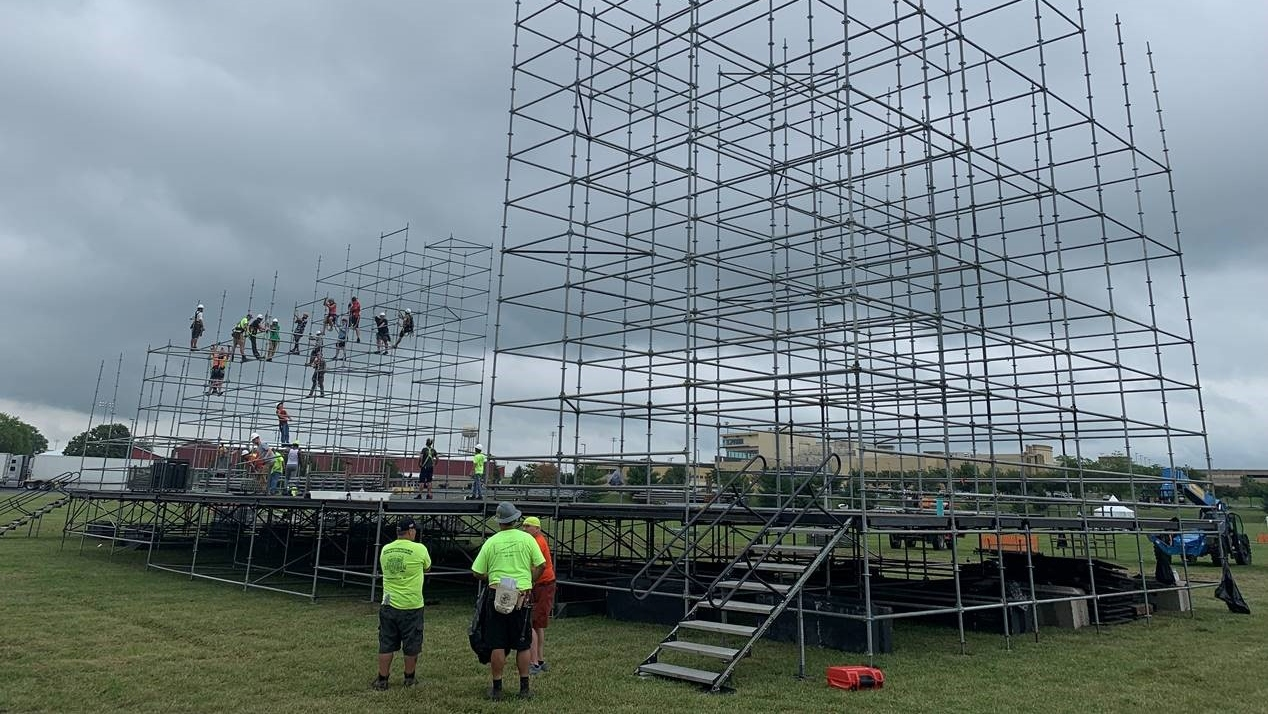 Stage being set up