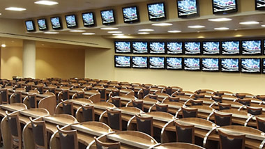 simulcast racing seats at Hollywood Casino at Penn National Racecourse